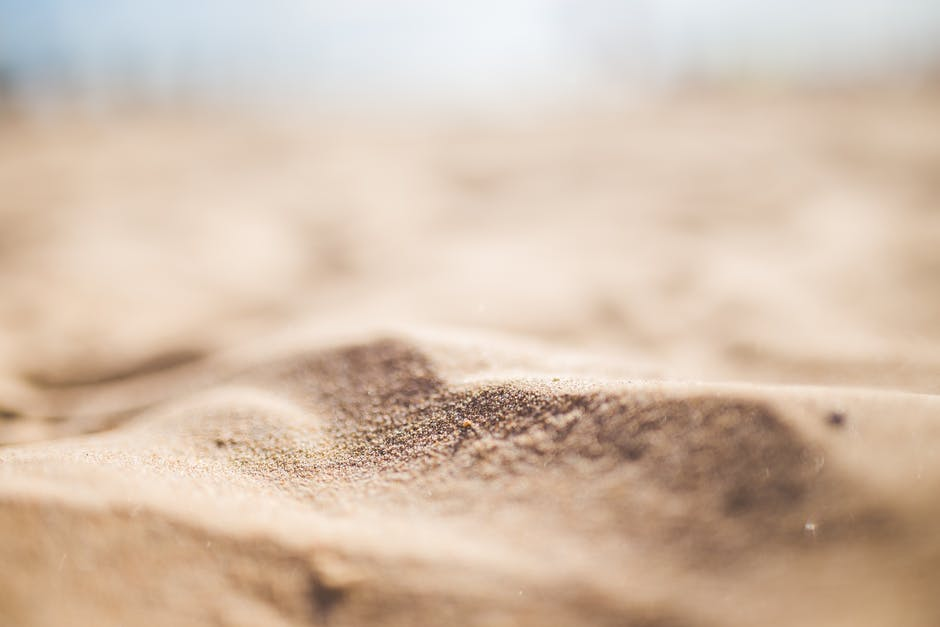 A close up of sand